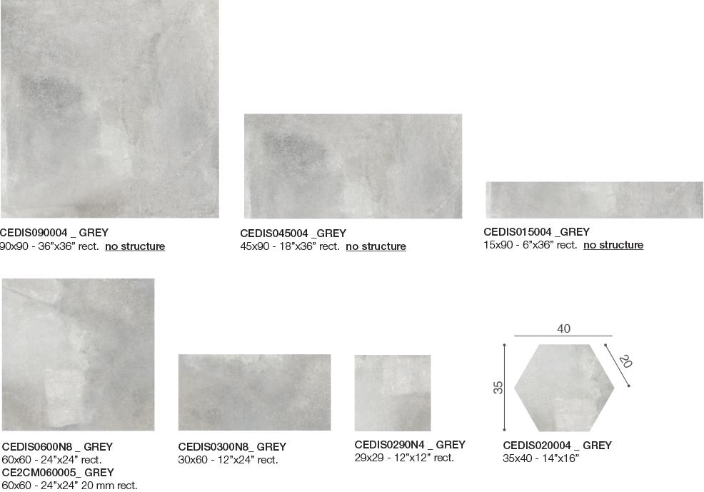 Disk Grey Mira Fliesen Format
