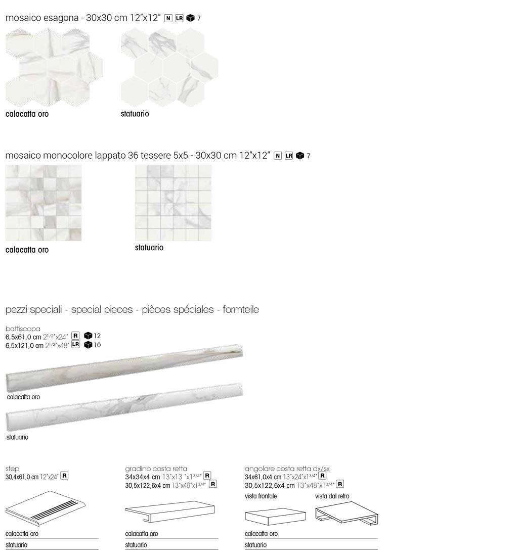 White Marble Marmoroptik Fliese